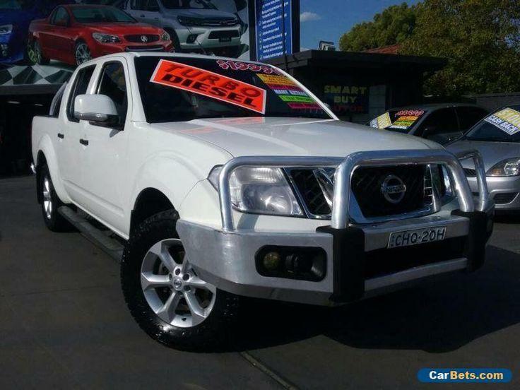 2012 Nissan Navara D40 ST (4x4) White Manual 6sp M Dual Cab Pick-up #nissan #navara #forsale #australia
