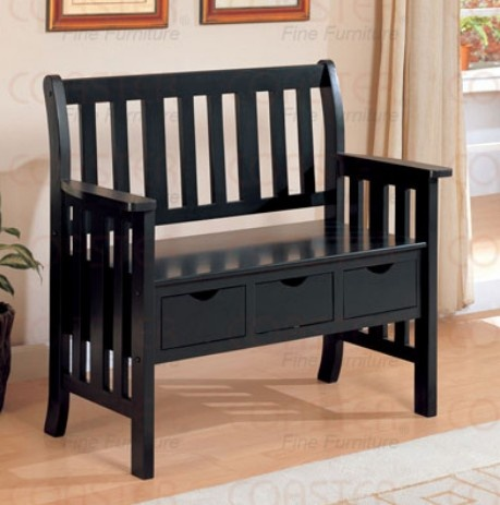 Black Deacon Bench Home Decorating Items Pinterest