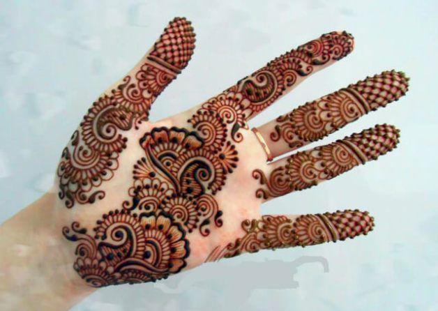 modern bridal mehndi design