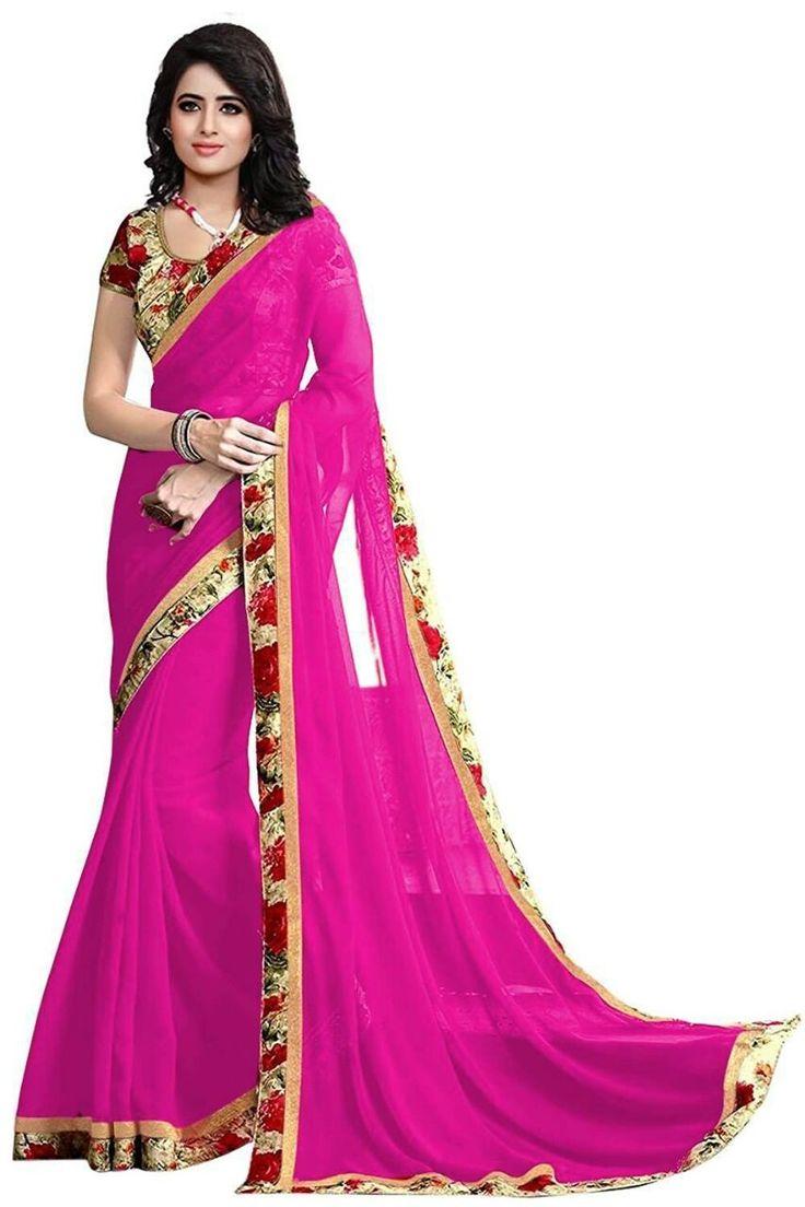 Kapadewala Designer Pink Silk Saree For Women