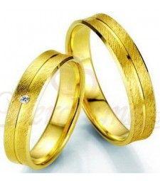 Βέρες γάμου χρυσές με διαμάντι breuning 7001-7002