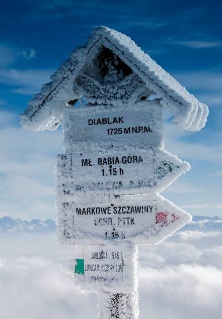 Winter season in the Polska Mountains