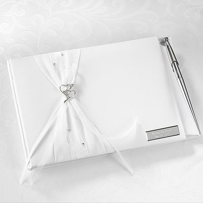Sparkling Hearts Guest Book and Pen