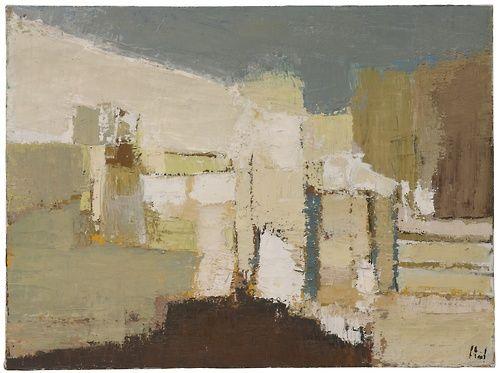 Nicolas de Staël (Dutch, 1914-1955), Paysage à Agrigente [Agrigento Landscape], 1953. Oil on canvas, 60.3 x 81 cm.