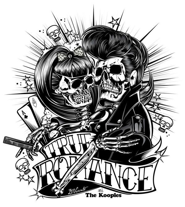Rockabilly, black and white