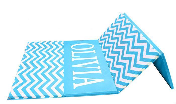 "Chevron Zigzag 4' x 8' x 1 3/8"" Advanced Level Folding Gymnastics Mat"