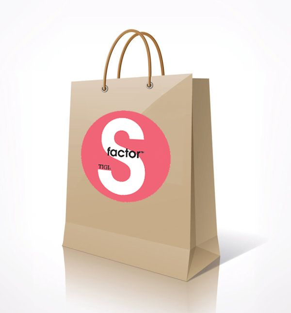 Tigi S-factor Paper Shopping Bag.