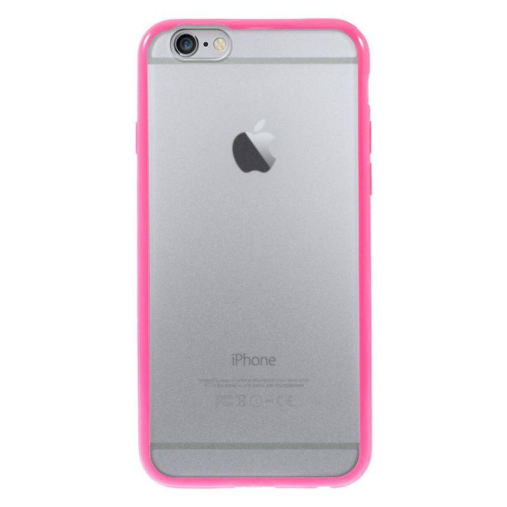 Průhledný kryt pro iPhone 6 s růžovým rámečkem #AllCases.cz #kryt #case #iphone #iphone6