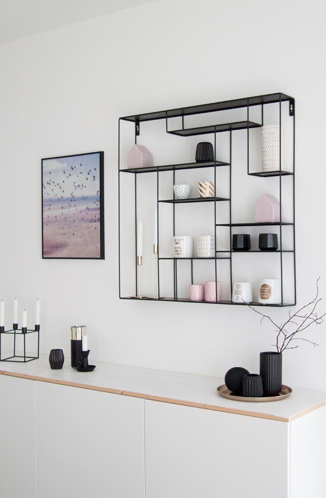 Schwarzes Regal Nordisches Design Bruka Design In 2020 Regal