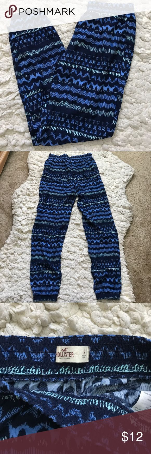 Hollister soft pant joggers Never been worn. Soft pant joggers. Great for the beach or lounging! Hollister Pants Track Pants & Joggers