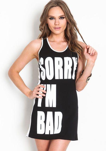 Bad Girl Tank DressBad Girl Tank Dress, BLACK
