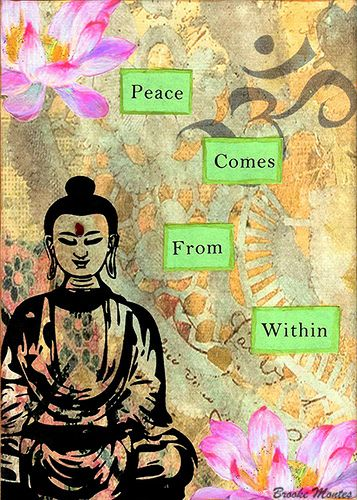Buddha quote Collage Art by Brooke Montes Hi! Visit us @ the Bohemian Yogini Shop http://www.tadasanagoats.com <3