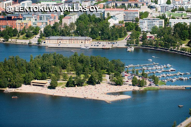 Hietasaaren hiekkaranta Ilmakuva: Lentokuva Vallas Oy