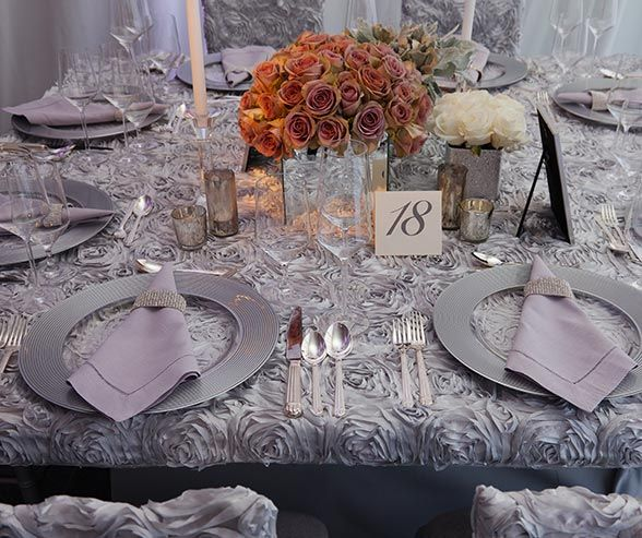 Platinum At-Home Wedding, Silver and Purple, Glamorous, Elegant, Real Wedding || Colin Cowie Weddings