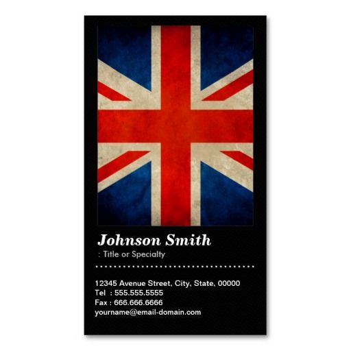 253 best qr code business card templates images on pinterest grunge great britain uk flag union jack qr code business card reheart Images