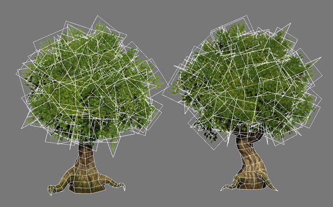 Hand-painted tree
