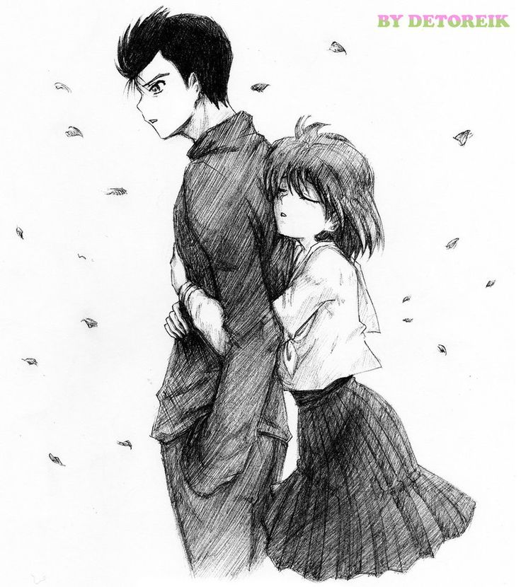 Yusuke and Keiko from Yu yu Hakusho