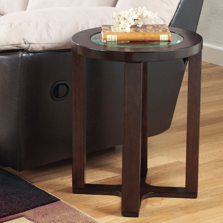 Signature Design By Ashley Marion Brown Round End Table - T477-6