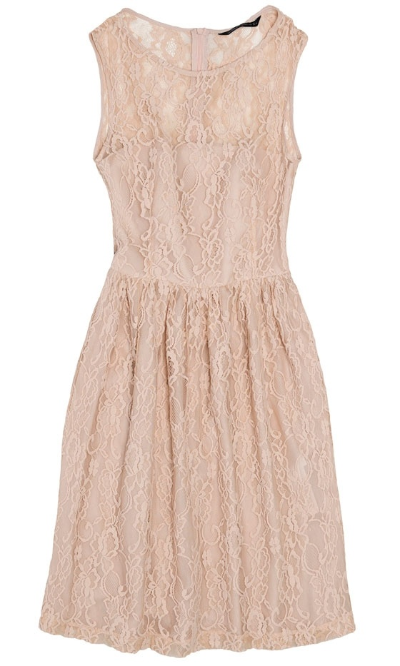 Nude Lace Dress...with my cowboy boots @ Becky Marshall