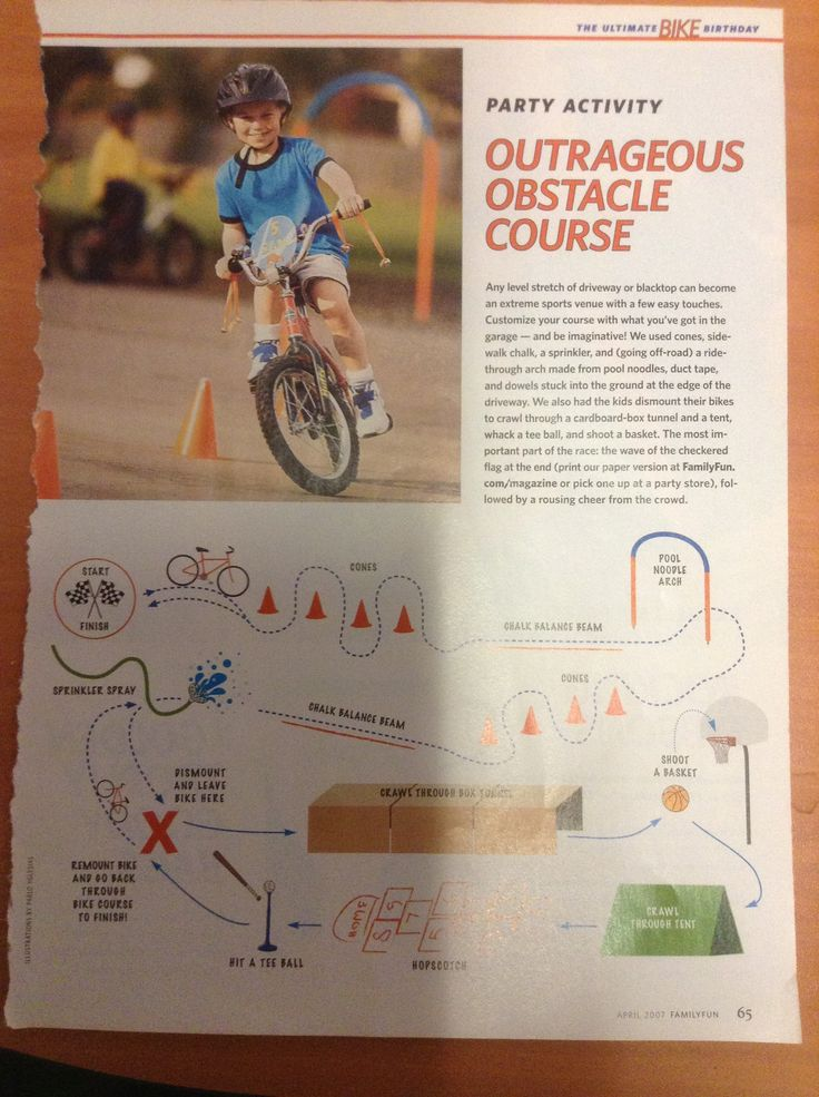 Bike Obstacle Course Vacation Camp Pinterest Bikes