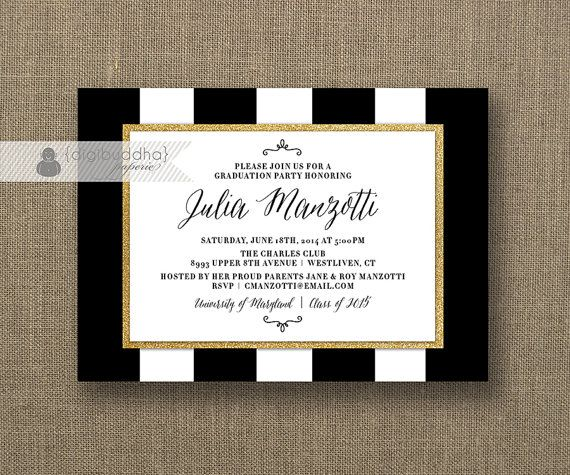 1000 images about Marcys Graduation party – Black and Gold Graduation Invitations