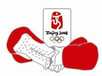 Beijing 2008 Olympics Boxing Pin- Imported from Beijing