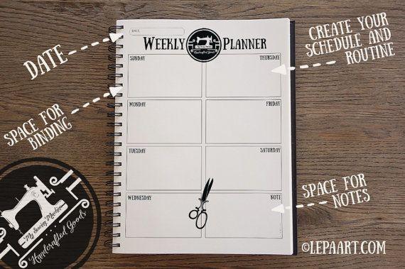 Weekly Planner Printable Weekly Organizer A4 Weekly by LepaArt