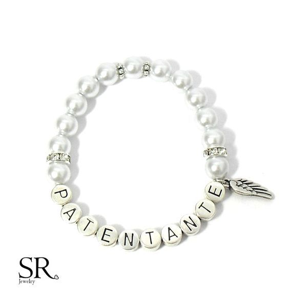 Du suchst ein besonderes Geschenk für deine Patentante? Du möchtest deine Freundin fragen, ob sie die Patentante deines Kindes werden möchte?  Dieses einzigartige Armband mit versilberten...