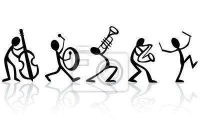 Cuadro /Póster músicos tocando música de banda, ideal vector para camisetas - blues • PIXERS.es