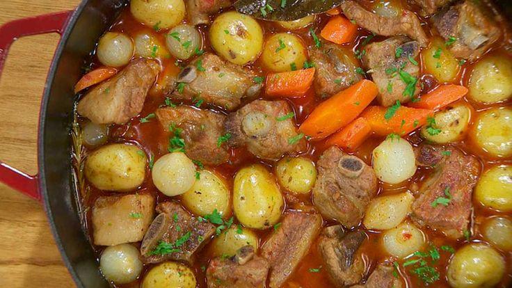 Estofado de costillas con patatas