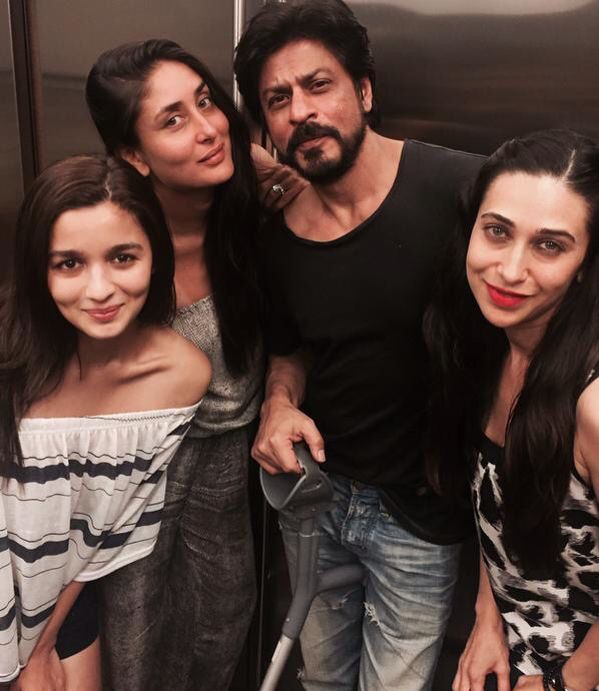 K.K.K SPENDS SUNDAY WITH SRK AND KARISHMA AND ALIA AND MANISH .