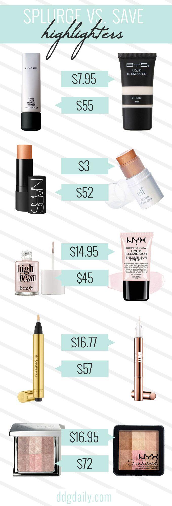 Best beauty dupes: Splurge vs save highlighters