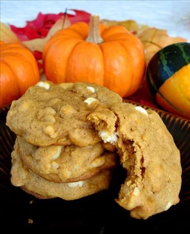 Pumpkin Macadamia White Chocolate Chip Cookies