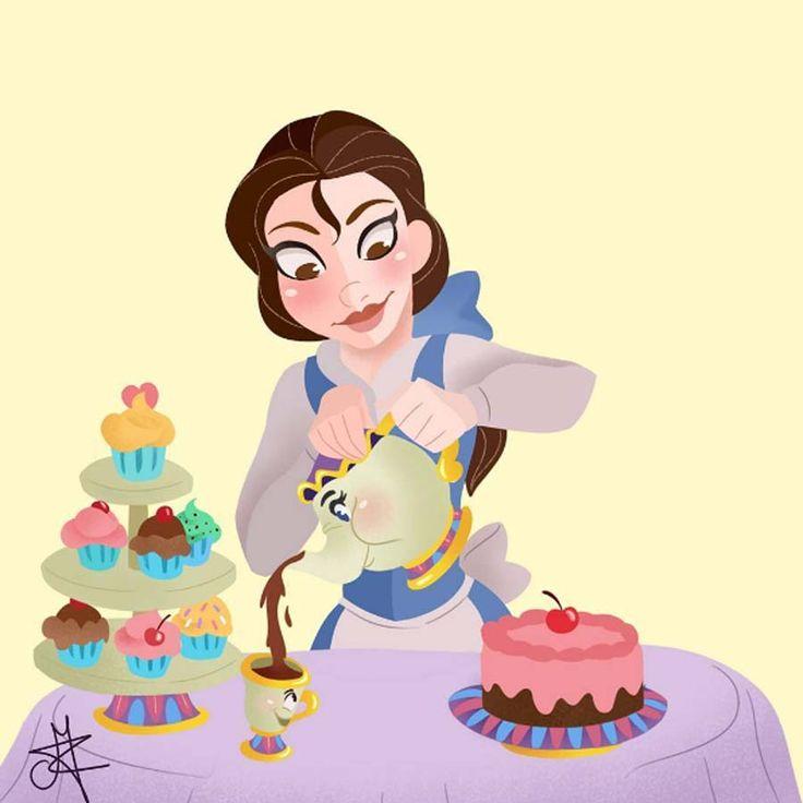 Acho que a gente nem sempre percebe, mas todo filme da Disney tem algum mascote fofo, né? Todas as princesas tem seu companheiro fiel, um pet que é bonitinho e divertido. A artista Mica que me fez realizar isso com uma série de ilustrações das Princesas Disney com seus melhores amigos! Os desenhos são uma gracinha, com as personagens no estilo chibi, abraçando seus pets. Achei fofo que ela desenhou...