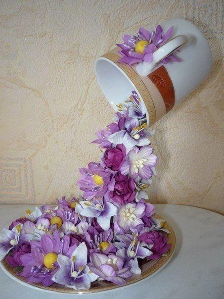 Чашка - проливашка Цветочный водопад