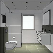 Moderne schets van een badkamer ontwerp
