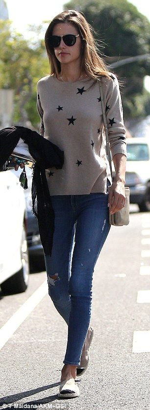 Casual Monday: The Victoria's Secret beauty looked relaxed as she went along to get her ha...