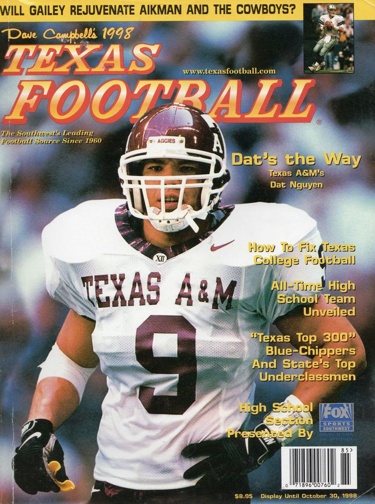 Dave Campbell's Texas Football's 1998 cover featuring