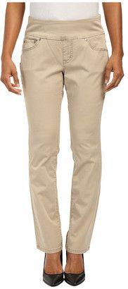 Jag Jeans Petite Petite Peri Pull On Straight Twill Pants - Shop for women's Pants - British Khaki Pants
