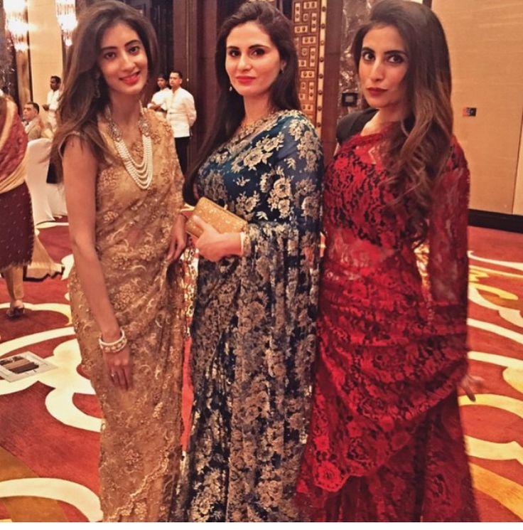 Lace saris