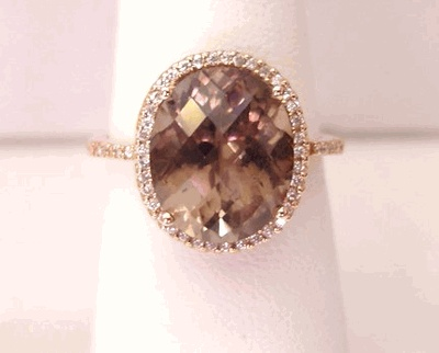 Love this smokey topaz ring.