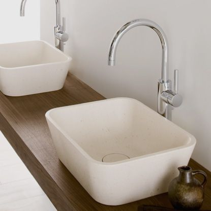Washbasin Duo: #bathroom, #washbasins, #stone #design #madeinitaly,