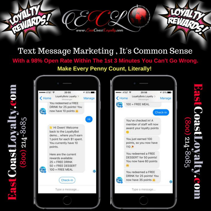#TextMessageMarketing is simply common sense! With a 98% open rate in the 1st 3 minutes, make every penny in your #Marketing budget count.