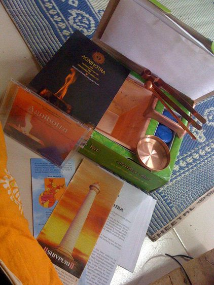 Vedic Fire Ritual Kit with Ebook and access to free q & a or skype call lesson - supports social work in rural india