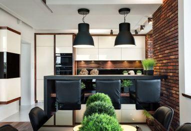 Imitacja cegły na ścianie i ciemne #meble #kuchenne? Twoja kuchnia od razu nabiera niepowtarzalnego stylu! http://www.vigomeble.pl/