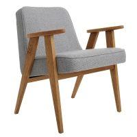 Fauteuil design scandinave, gris