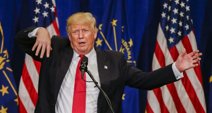 awesome Dem Lawmaker Suggests Trump Should Be Mentally Examined http://Newafghanpress.com/?p=21921 epa05287600 Businessman and Republican presidential candidate Donald Trump gestures as he speaks at a campaign rally at the Century Center in South Bend, Indiana, USA, 02 May 2016. Indiana voters go to the polls for the winner take all Indiana primary election on 03 May.  EPA/TANNEN MAURY