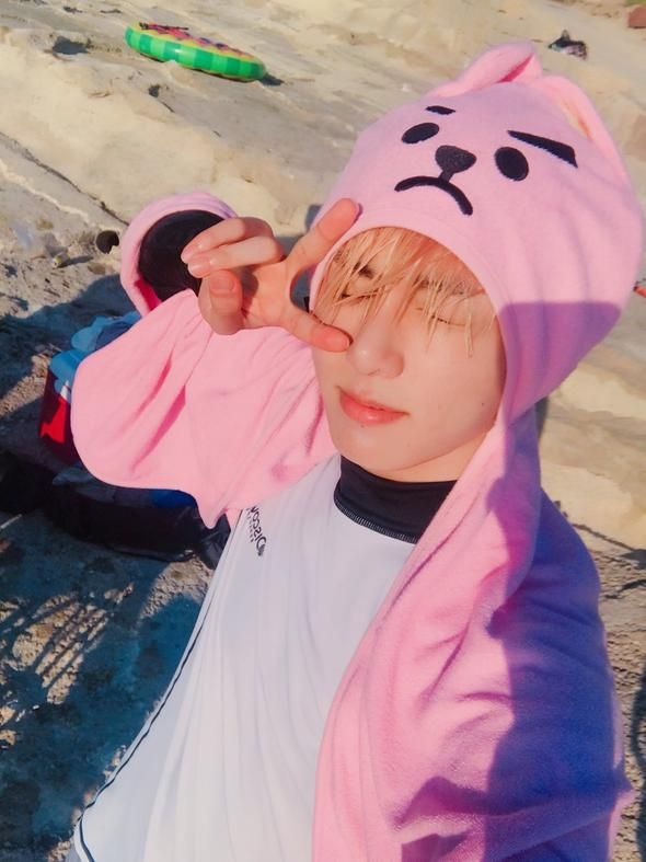 47db476f Bt21 official hood towel in 2019   help me plz it is an addiction ...