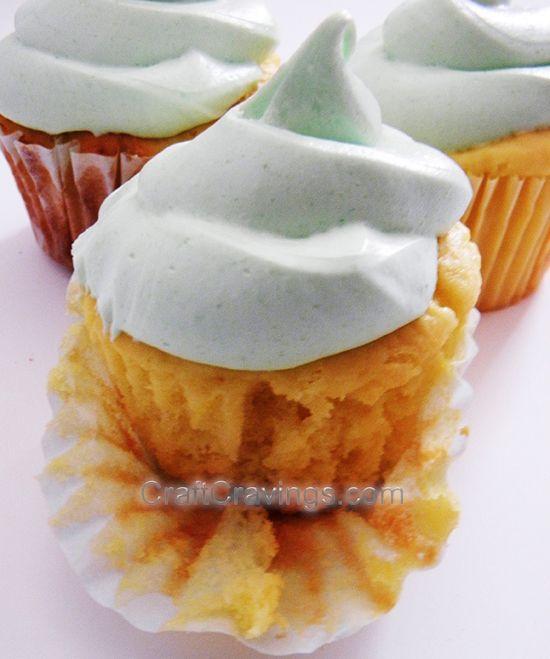 Lemon Greek Yogurt Cupcakes with Lime Jello Frosting Recipe recipe cupcakes -