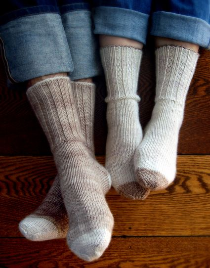 Whit's Knits: Homespun Boot Socks - The Purl Bee - Knitting Crochet Sewing Embroidery Crafts Patterns and Ideas!